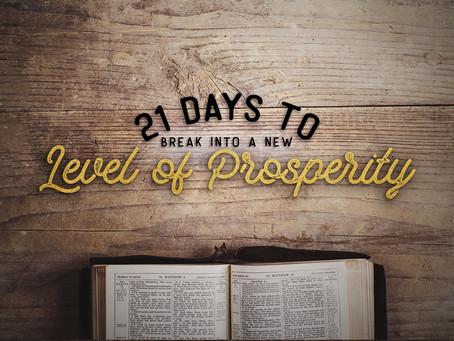 神の繁栄に入るための21日間の祈りのフォーカス