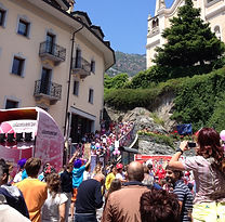 working for cycling event organizers in Italy