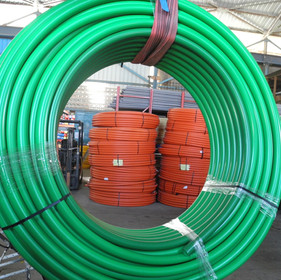 HDPE pipes for fibre optic protection