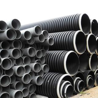 Corrugated drainage pipes