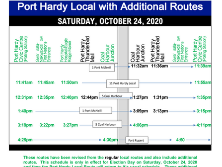 *Election Day - Special public bus schedule released. Extra runs added!