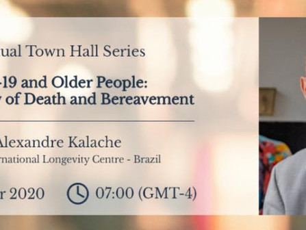 Support for Bereavement in 2020. (A Virtual Town Hall Series.)