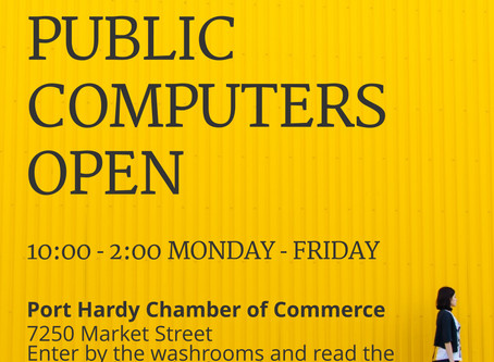 Port Hardy Public Computers - Port Hardy Chamber of Commerce provides access