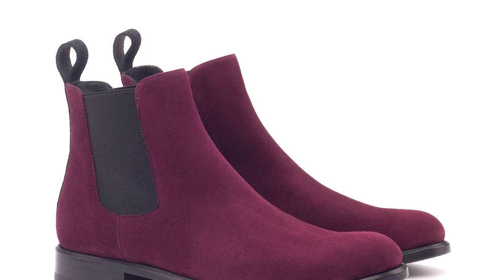Merlot Suede Chelsea Boots voor dames