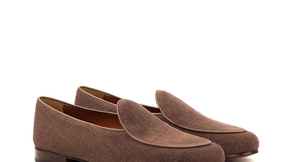 Mocha Linen Belgian Loafer