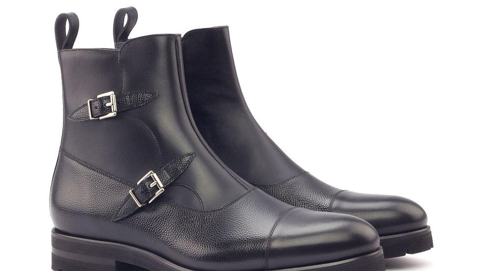 Zwarte Octavian Buckle Boots