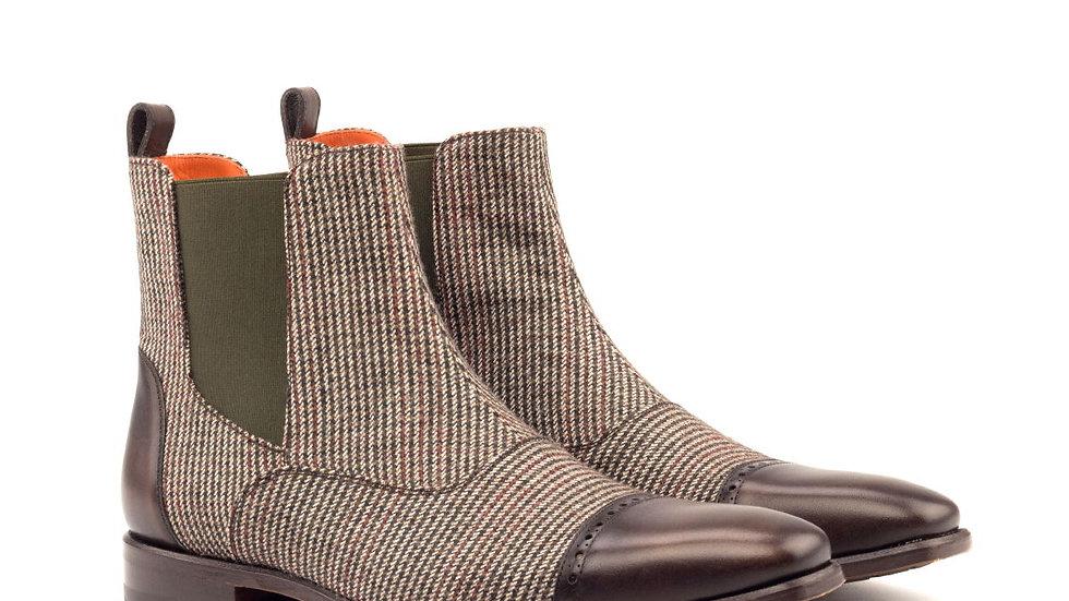 حذاء موكا سارتوريال تويد تشيلسي