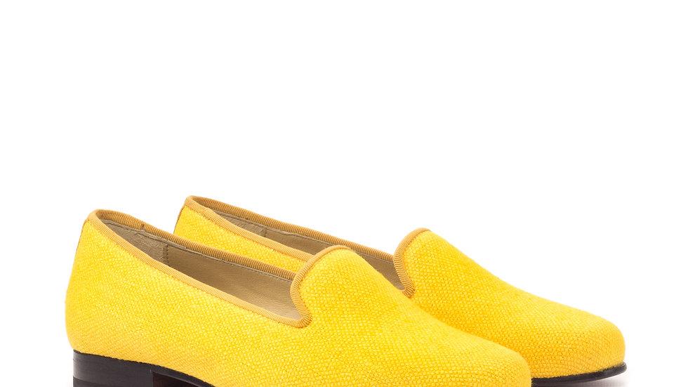 Toscaanse linnen Delayla-instapper voor dames