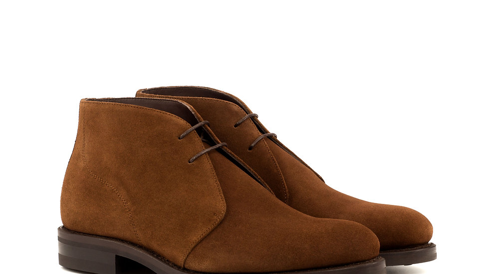 Tobacco Suede Chukka Boots