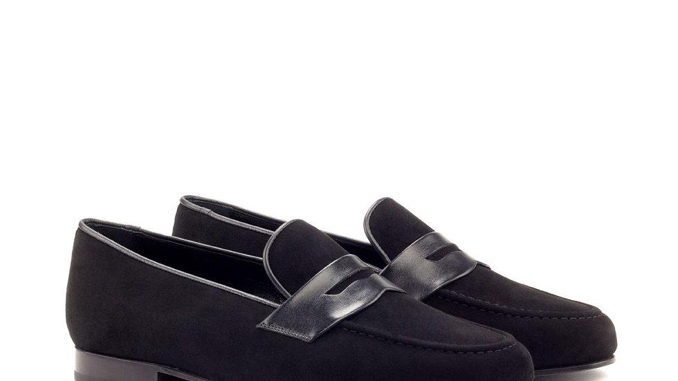 Black Suede Wellington Loafer