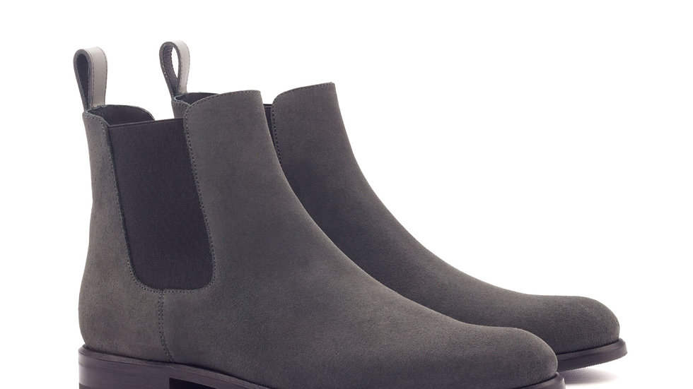 Women's Pewter Suede Chelsea Boots