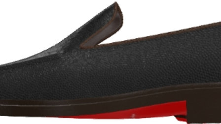 Pre-Order - Black Mocha Grain Loafer
