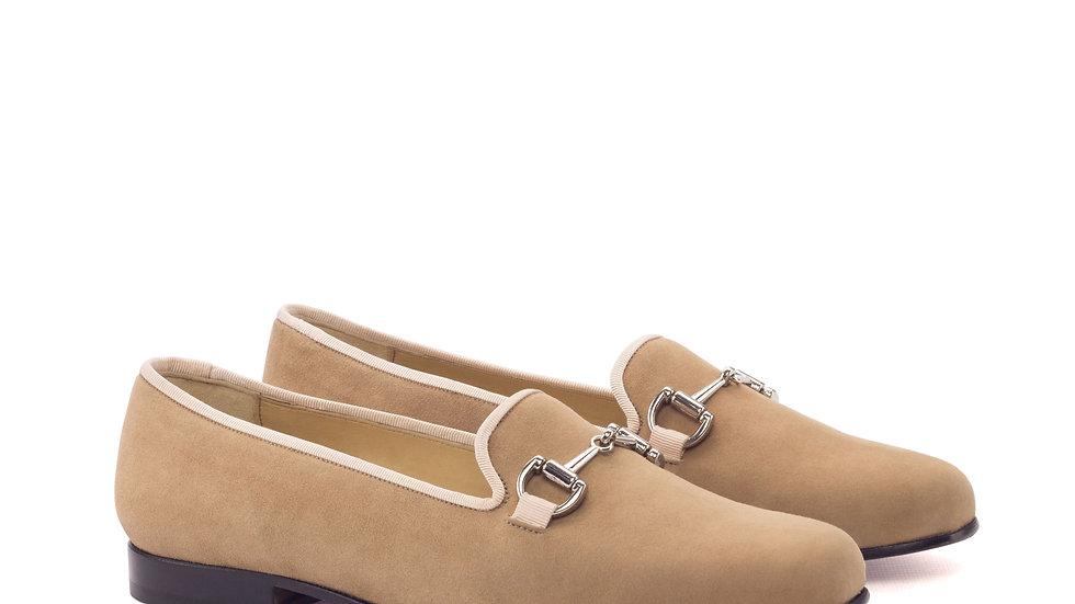 Women's Camel Suede Delayla Loafer