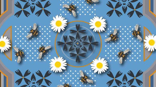 Orange Polka Dot Bee Pocket Square - Dorota Stumpf