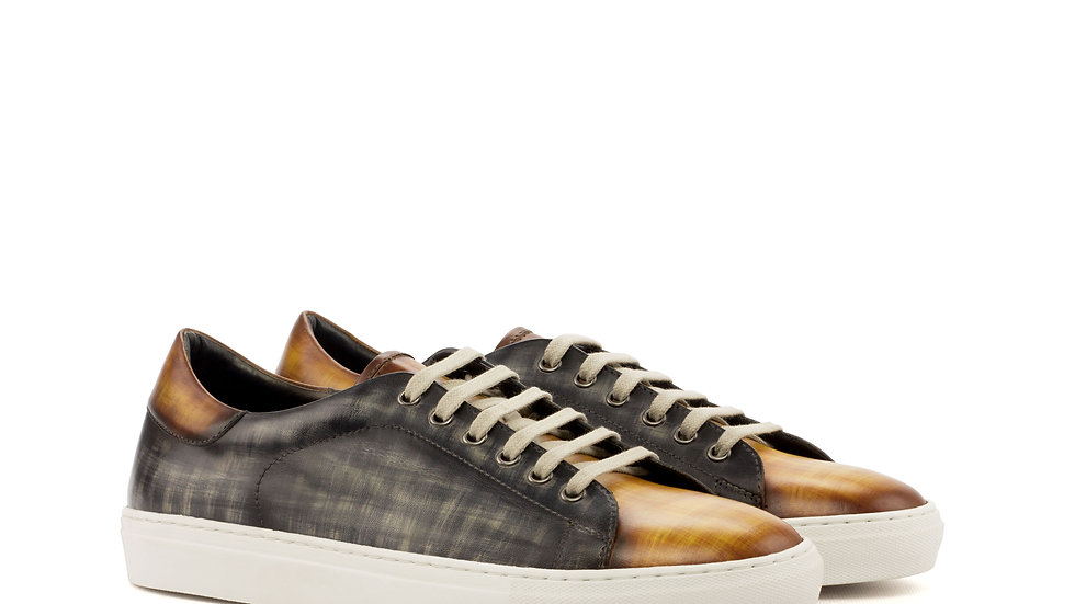 Cognac Grey Patina Trainer