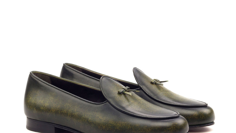 Forest Green Patina Belgian Loafer