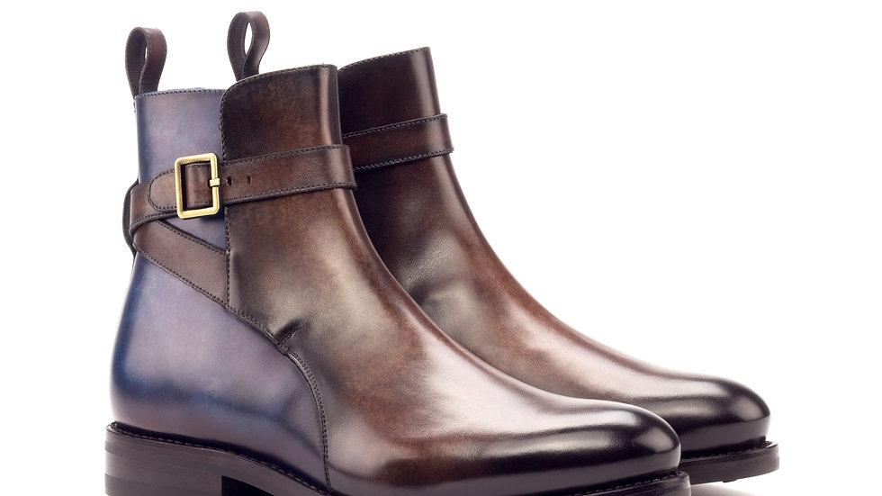 Mocha Denim Patina Jodhpur Boots