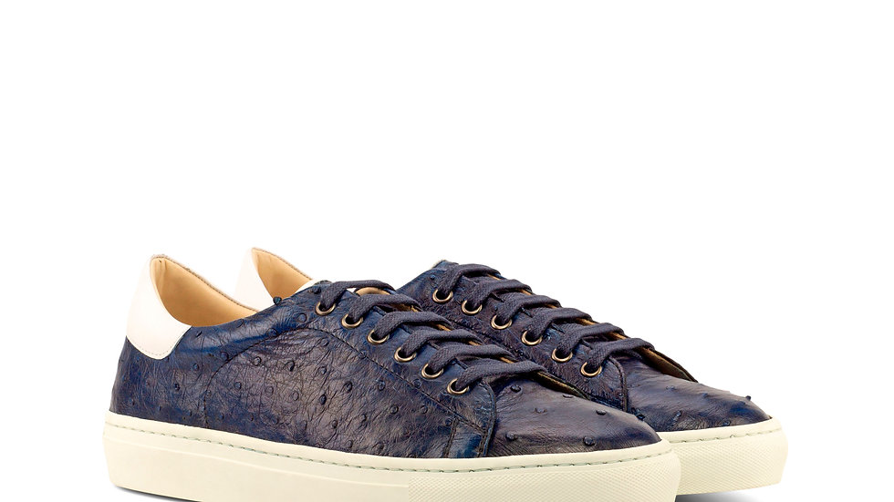 Navy Exotic Ostrich Trainer