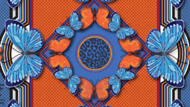 Blaze Butterfly Pocket Square - Dorota Stu