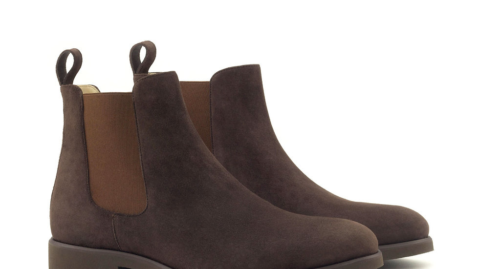 Mocha Suede Chelsea Boots