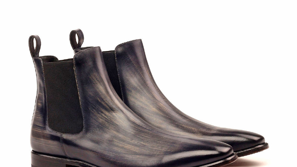 Pewter Patina Chelsea Boots