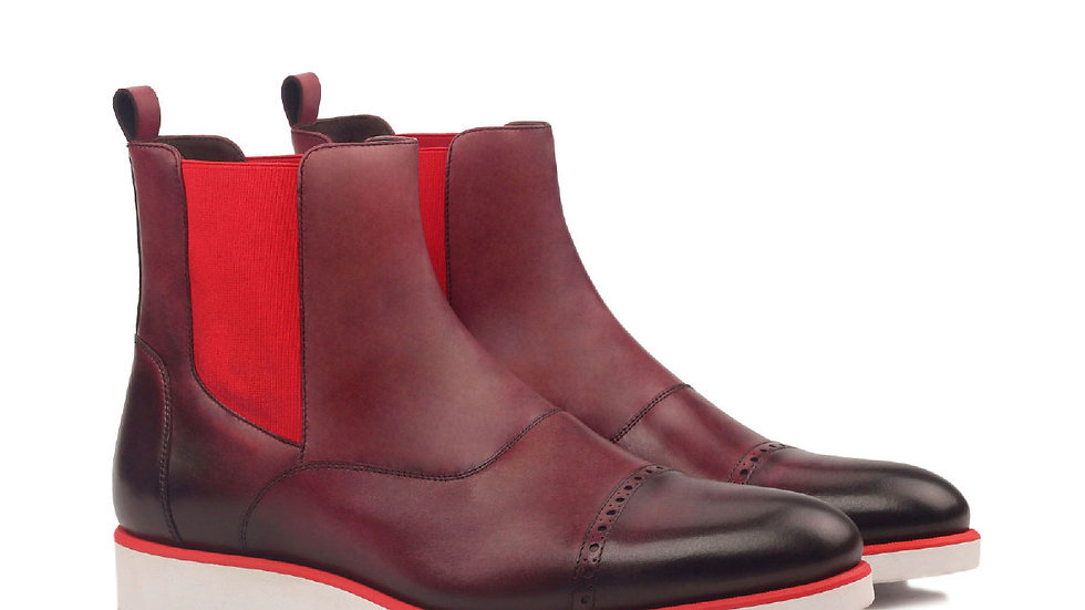 Mahonie Oxblood Chelsea Boots