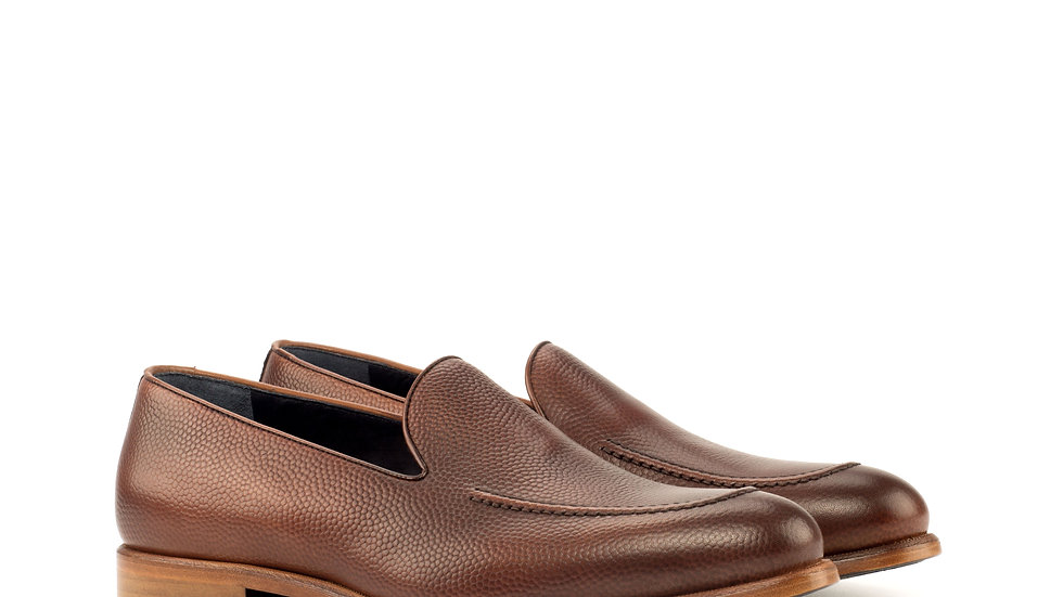 Mocha Pebble Grain Loafer