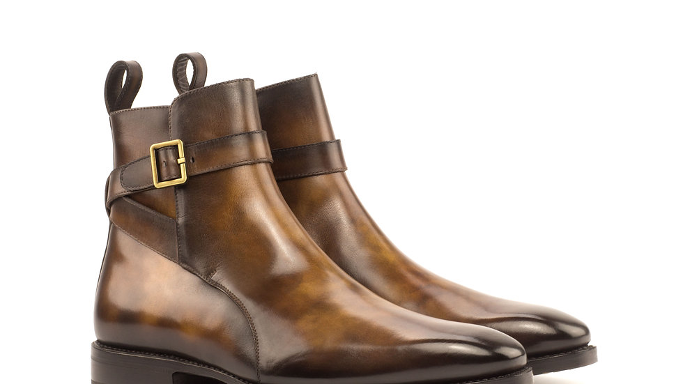Tobacco Patina Chelsea Boots