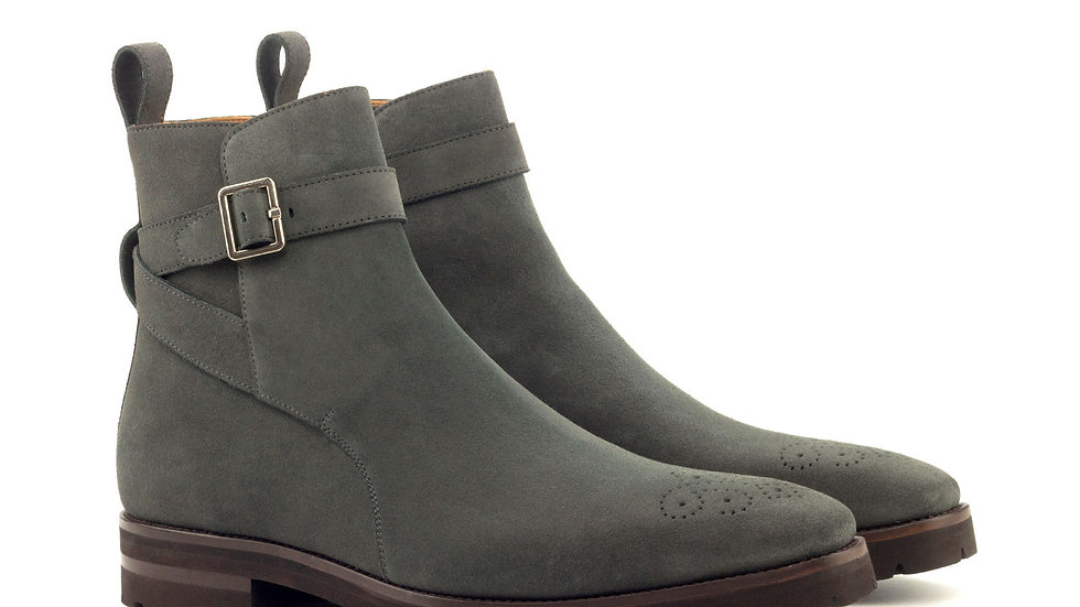 Pewter Suede Jodhpur Boots