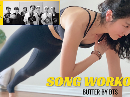 BTS (방탄소년단) 'BUTTER' | FULL BODY SONG WORKOUT FOR WEIGHT LOSS (No Jumping, No Equipment)