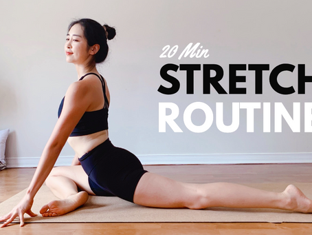 20 MIN STRETCH ROUTINE (No Talking) For Posture, Back Pain, & Flexibility