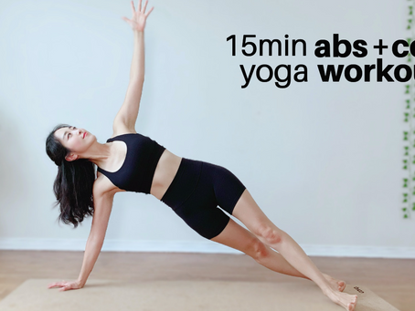 15 min Total Abs & Core Yoga Workout   15 Day 11 Line abs Challenge