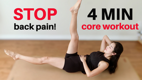 4min SAFE Core Yoga Workout For Back Pain Relief | Back & Neck Friendly