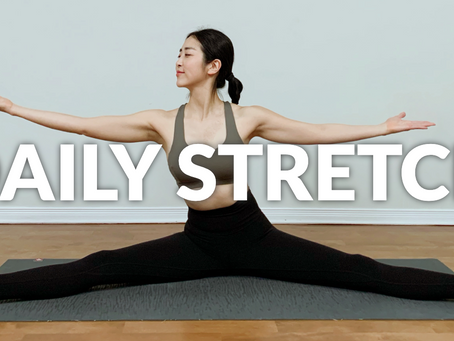9 Min. Daily Stretch for Flexibility and Relaxation (No Talking 🎶)