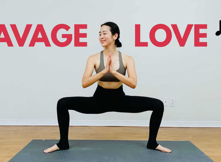 SAVAGE LOVE (Laxed-Siren Beat) TOTAL Body Yoga Workout For Weight Loss