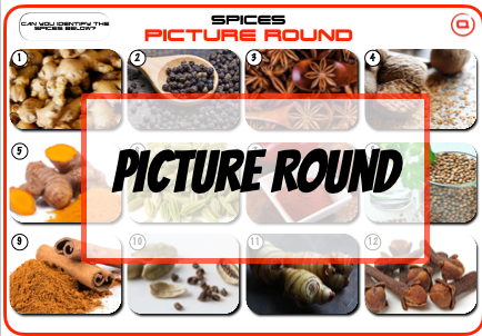 Identify the spices Picture Round