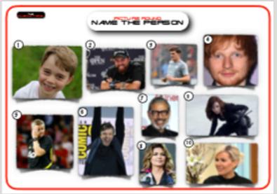Celebrity Picture Round 2