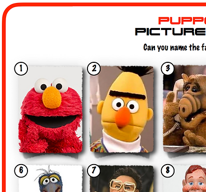 Puppets Picture Round