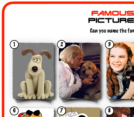 Famous Dogs Picture Round