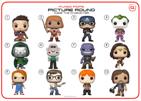 Funko Pops: Name the Character