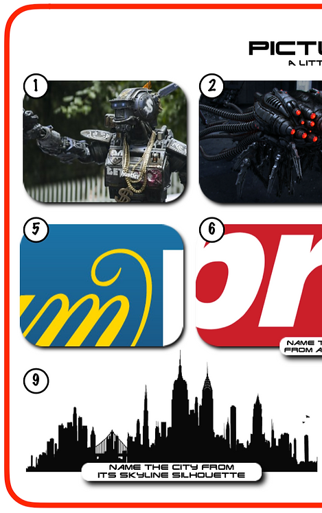 Mixed Pic Round 14: Robots / Betting Logos / Skylines