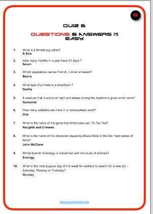 Quiz 19th Feb, 2020
