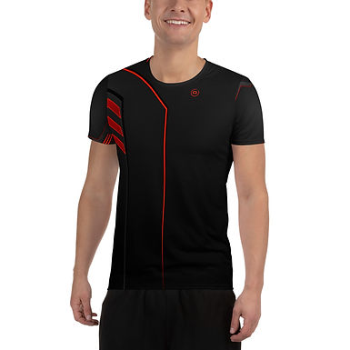 Quizinators-Over Print Men's Athletic T-shirt