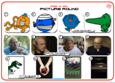 Mixed Pic Round 10: Mr Men / Make up Celebs / Books
