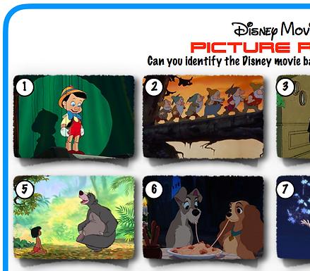 Disney movie scenes picture Round