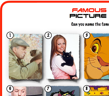 Famous Cats Picture Round