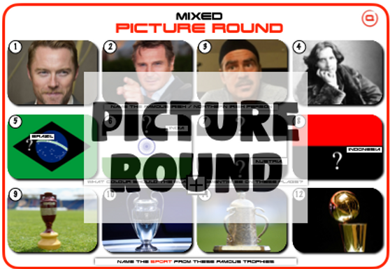 Mixed Picture Round 25: Irish / Northern Irish, Flag Colours and Trophies