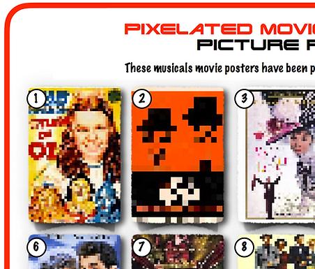 Pixelated Movie Musicals