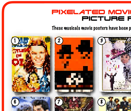 Pixelated Movie Musicals