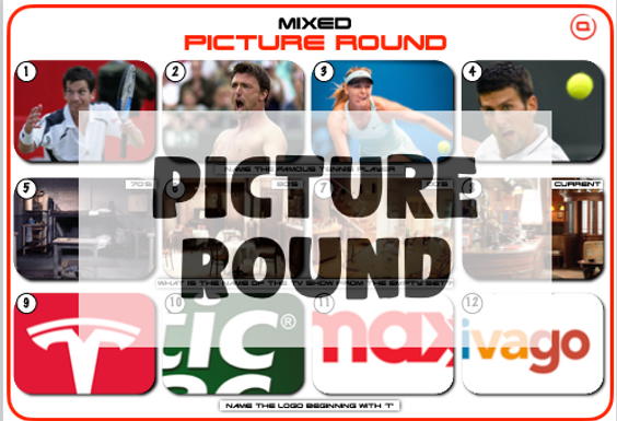 Mixed Picture Round 26: Tennis Players, TV Sets & Logos